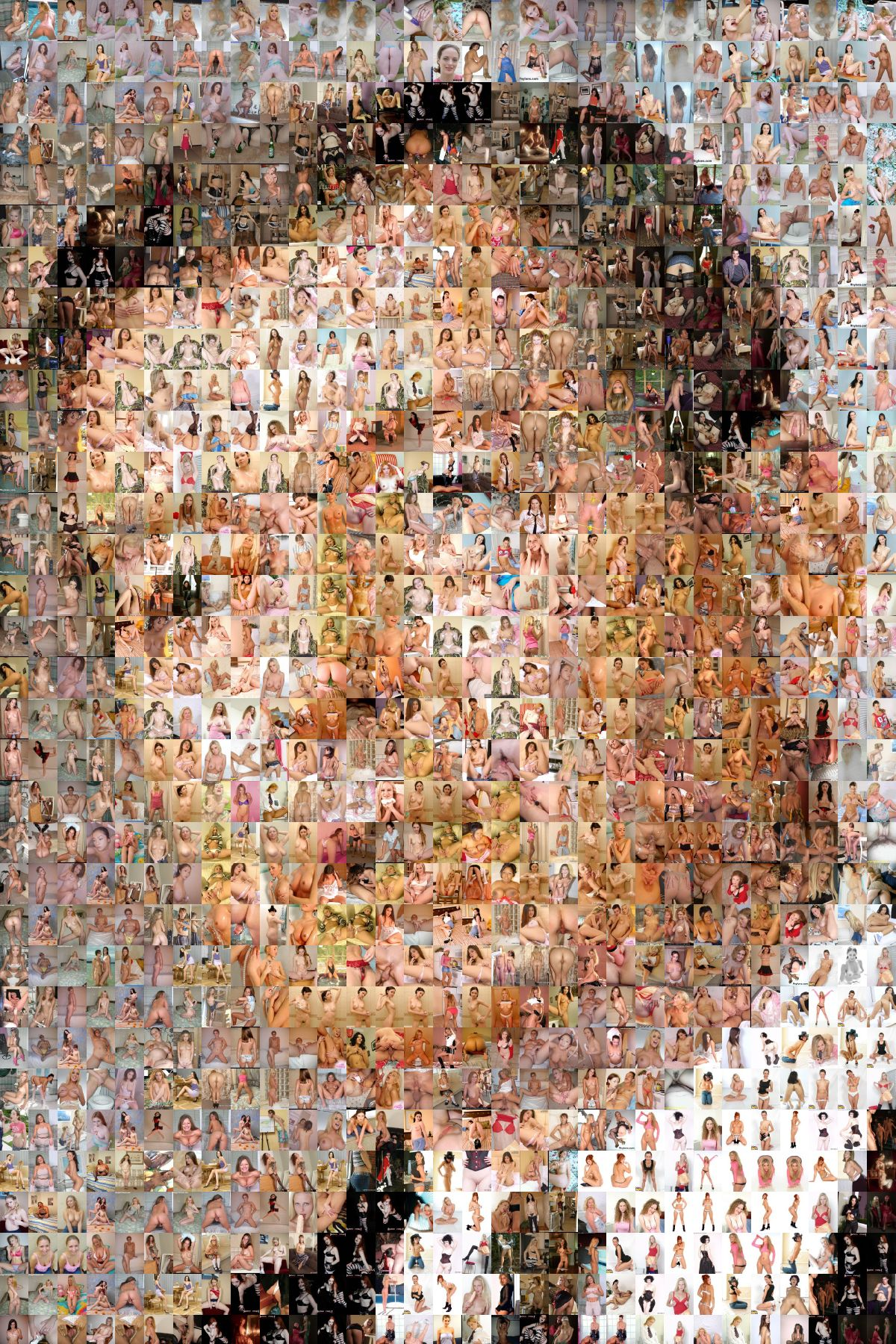 This is a photo mosaic of John Ashcrofts face made from porn images, ...